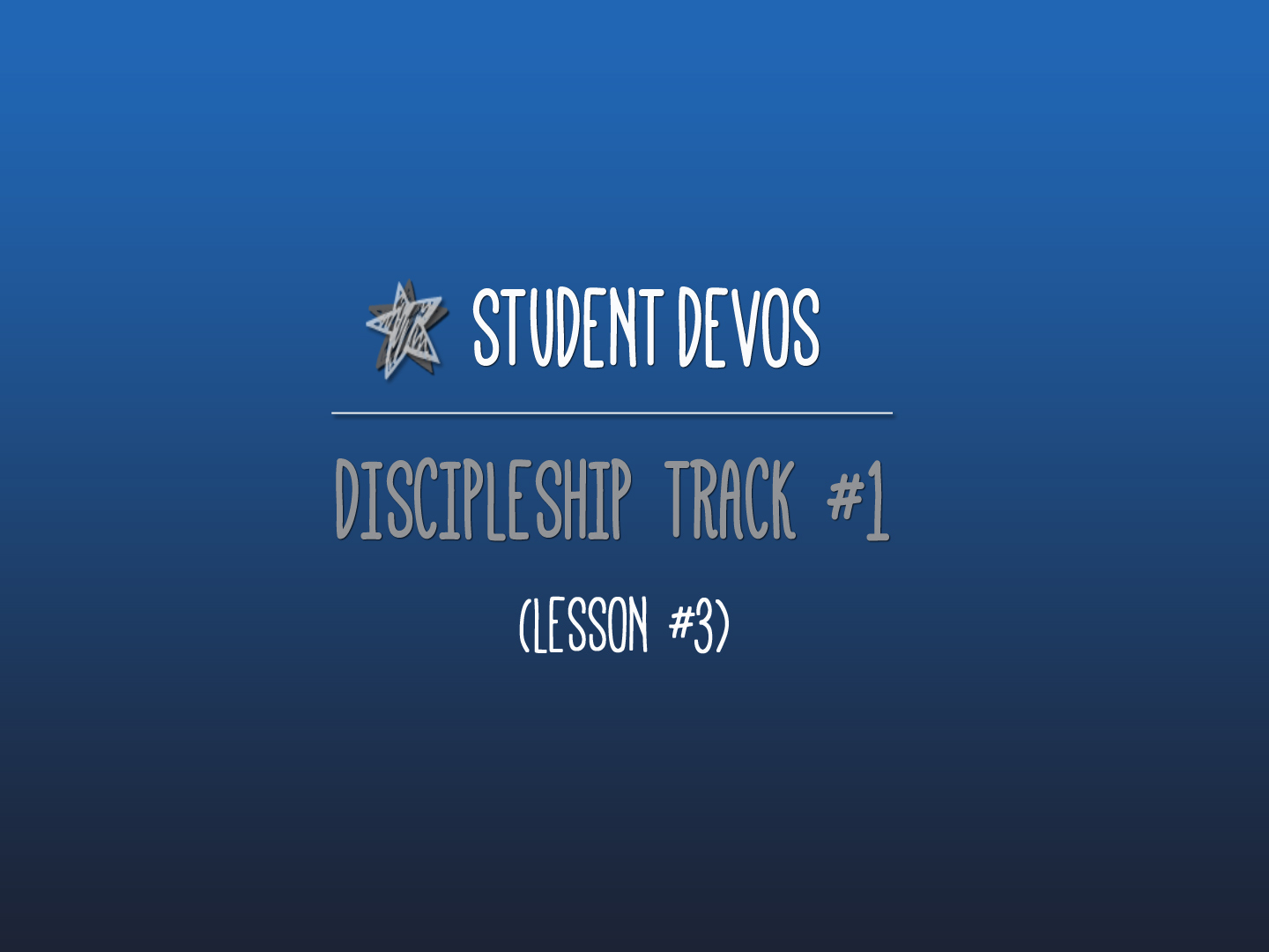 Youth Discipleship Devotion