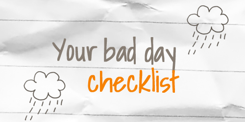 Teen Devotion with a Checklist for having a bad day