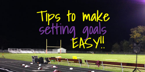 Devotion for teens on making goal setting easy