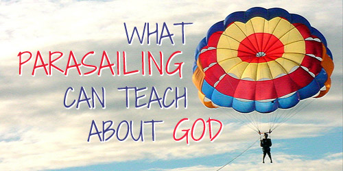 devotion for teens on parasailing with a daily Bible verse connected