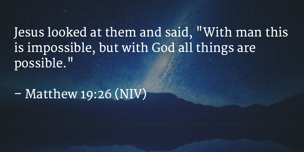 Daily Bible Verse Daily Devotion Matthew 19:26