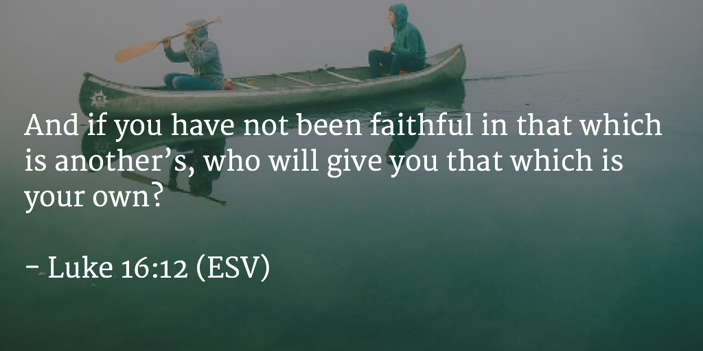 Daily Bible Verse and devotion on being faithful