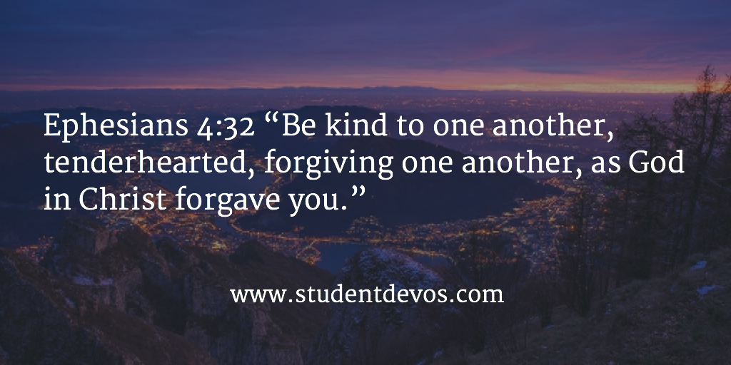 Daily Bible Verse and Daily Devotion for Teens on loving others