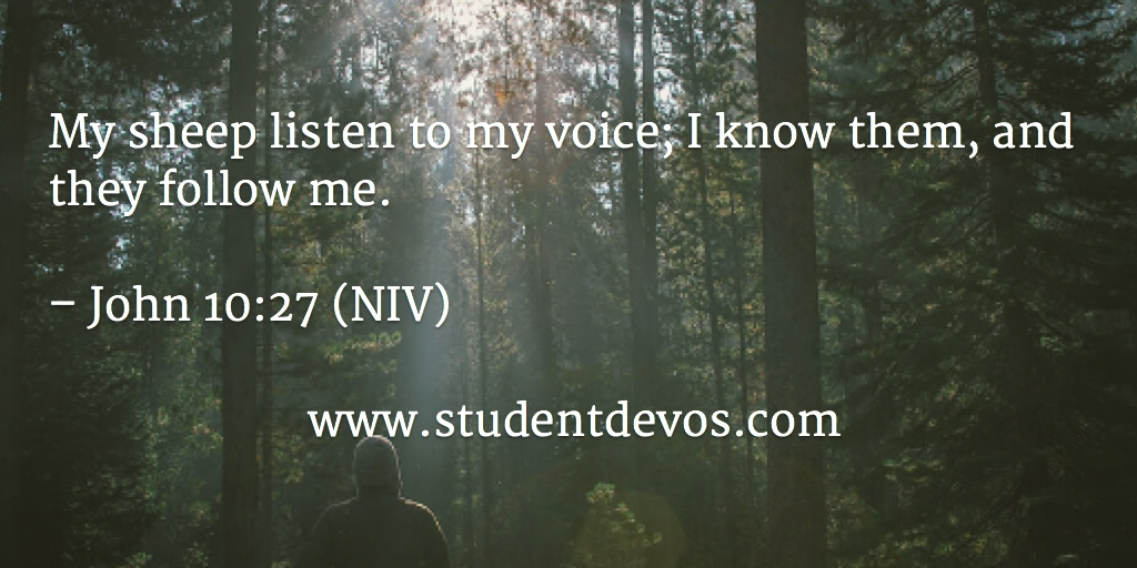 Daily Devotion and Bible Verse on Hearing Jesus' voice