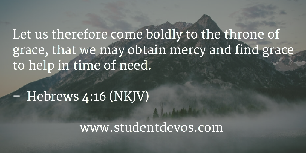 Daily Bible Verse and Devotion on Hebrews 4:16