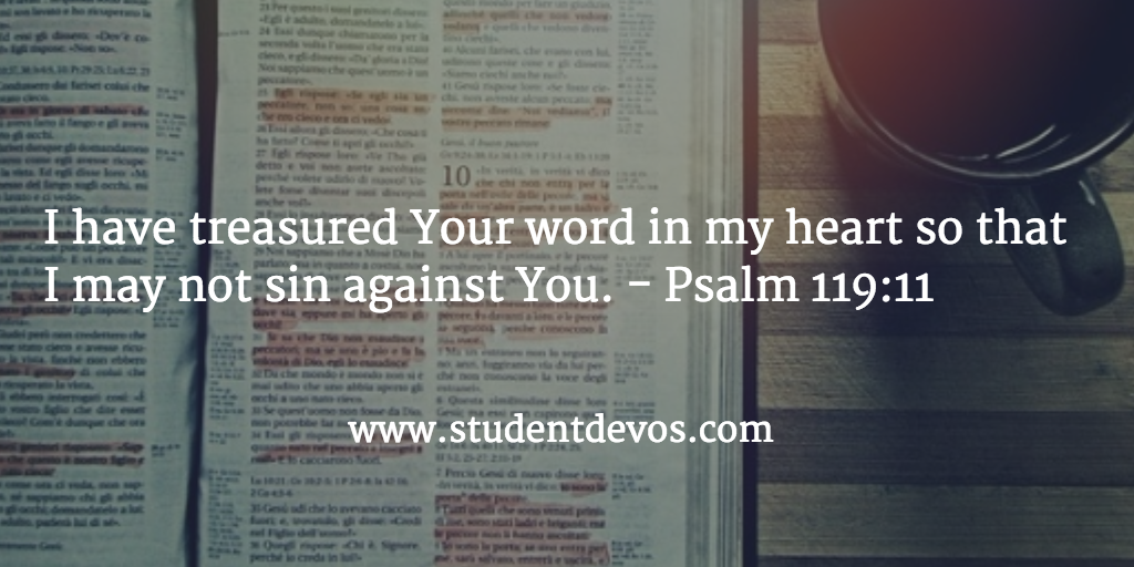Daily Bible Verse - Reading Treasureing God's word
