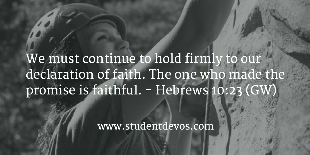 Daily Bible Verse - Hebrews 10:23