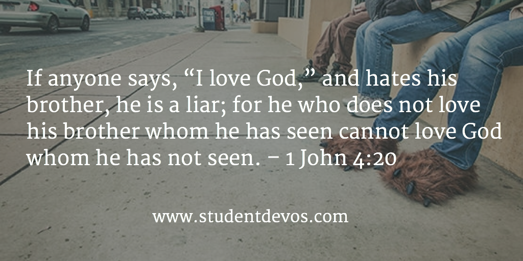 Daily Bible Verse and Devotion on Loving Others for Teens