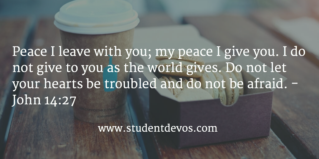 Daily Devotion and Daily Bible Verse on Peace