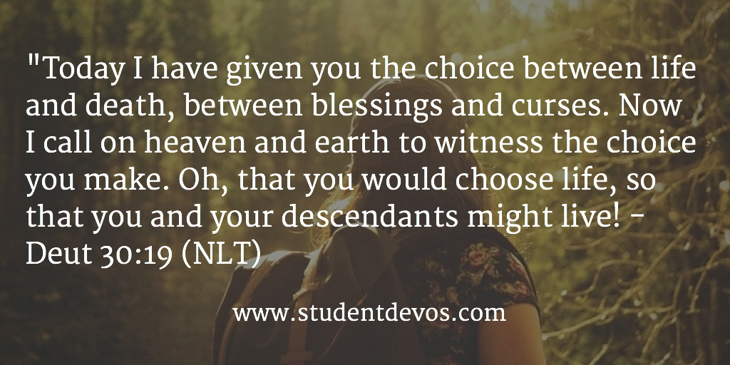 Daily Bible Verse and Devotion on Making CHoices