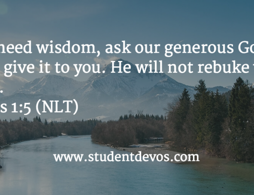 Daily Bible Verse and Devotion on asking God for wisdom