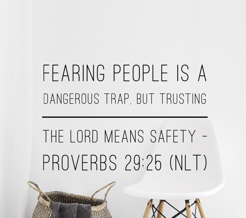 Daily Bible Verse and Devotion on Fearing People