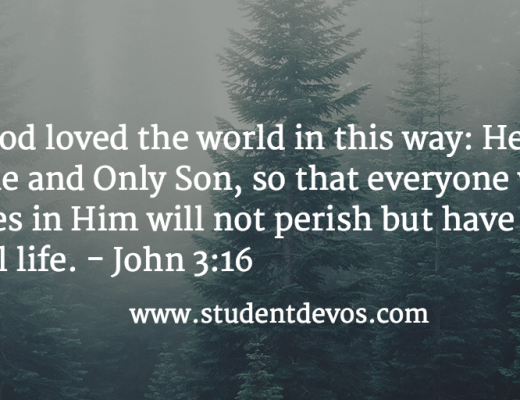 Daily Bible Verse and Devotion on God's Love