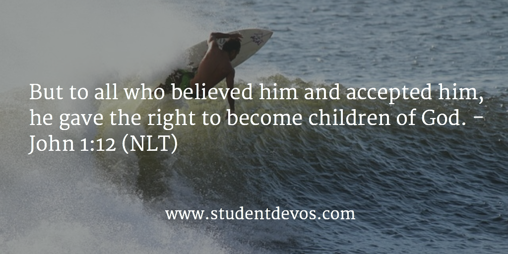 Daily Devotion and Bible Verse Being a Child of God