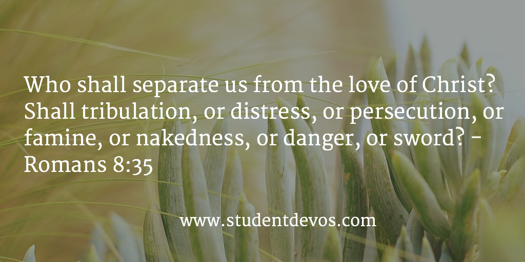 Daily Bible Verse and Daily Devotion for Teens and Youth on The Love of God