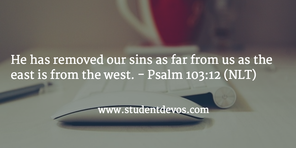 Daily Bible Verse - God taking Your Sin Away