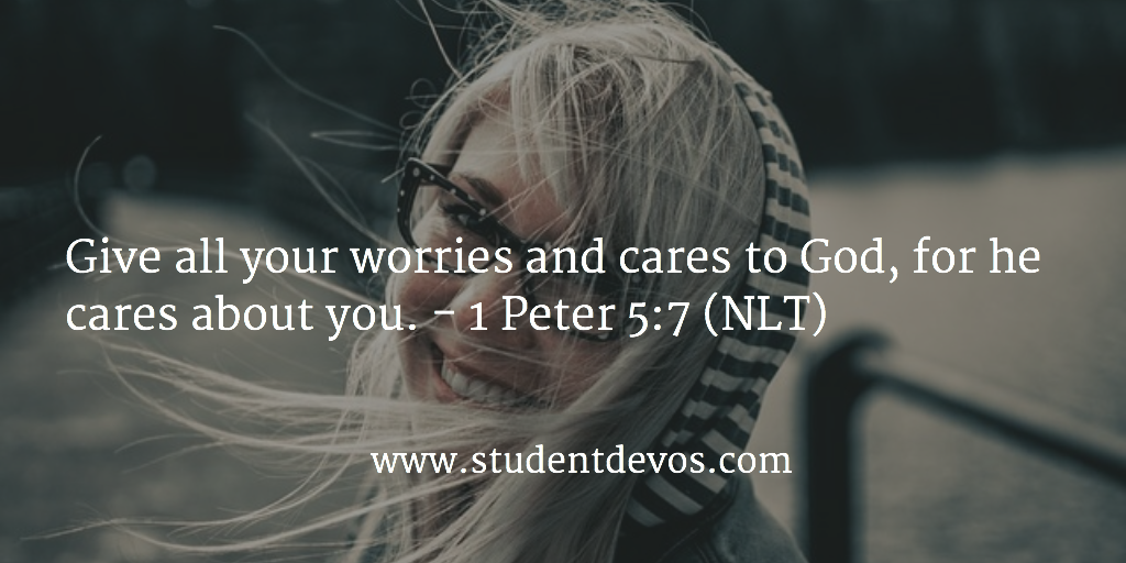 Daily Bible Verse and Daily Devotion on Casting Your Cares and Worries
