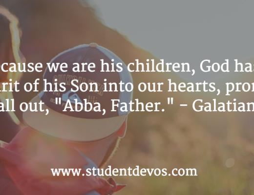 Daily Devotion and Bible Verse on God being your father