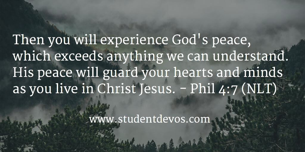 Daily Devotion - Daily Bible Verse on Peace