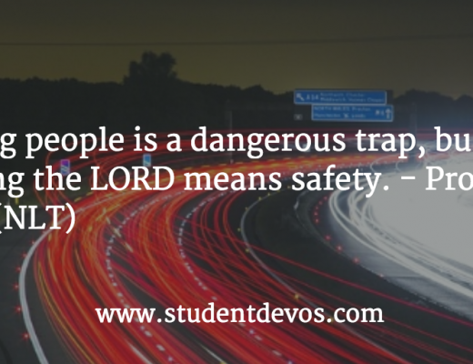 Daily Devotion and Bible Verse for Teens on Fearing People