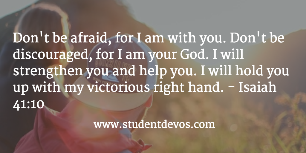 Daily Bible Verse and Devotion for Teens on Fear