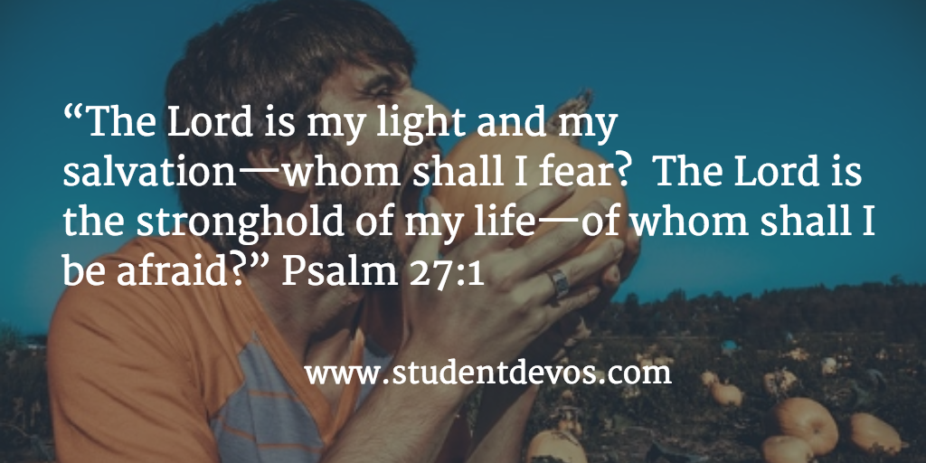 Teenage Bible Verse and Devotion on Fear