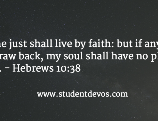 Daily Devotion and Bible Verse about How the Just live by faith