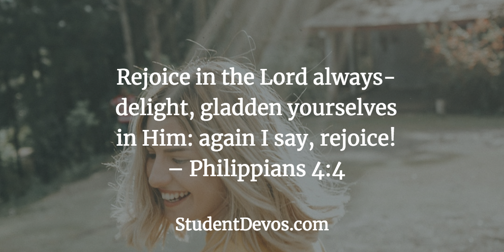 Daily Bible Verse and Devotion on Rejoicing in the Lord