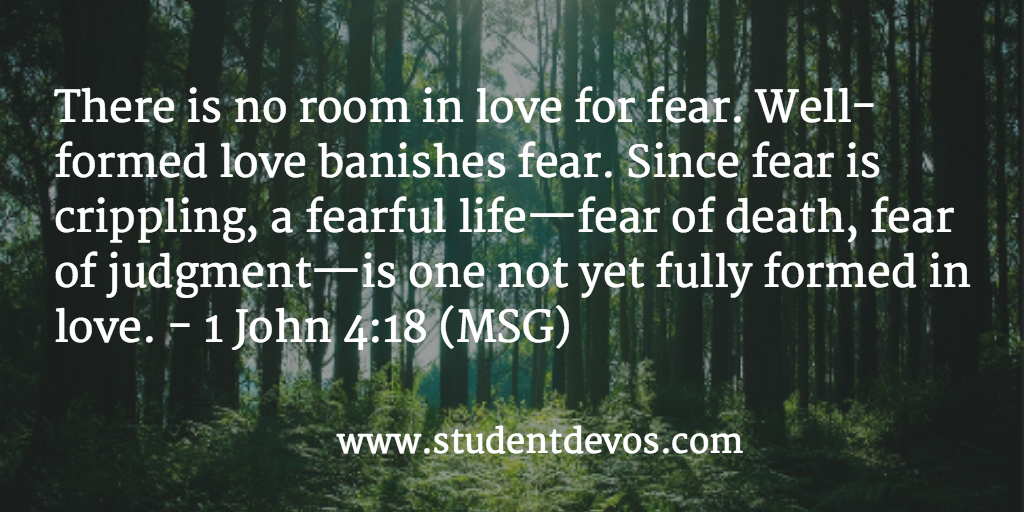 Teen Daily Bible Verse and Devotion on Fear