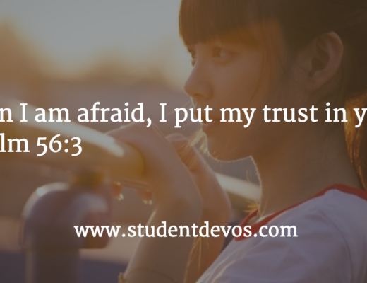 Teen Devotion and Daily Bible Verse on Fear