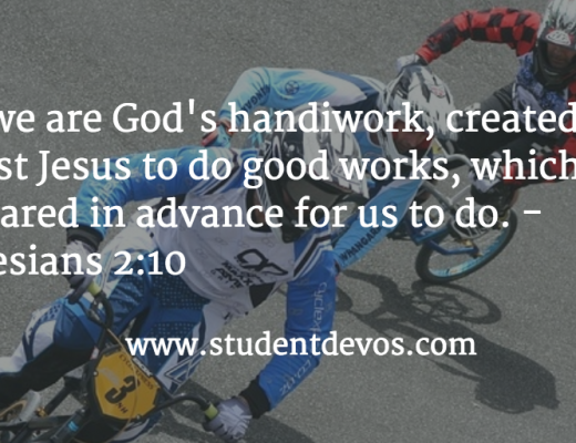 Daily BIble Verse and Devotion for Teens on good works - future