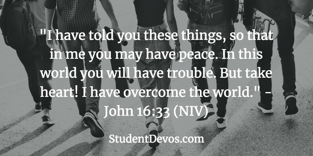 Peace Devotion and Daily Bible Verse for Teens