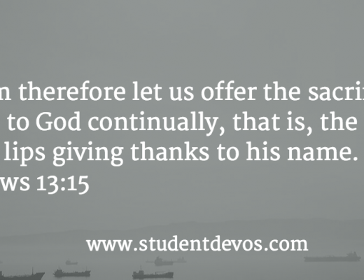 Daily Bible Verse and Devotion for Teenagers on Thankfulness