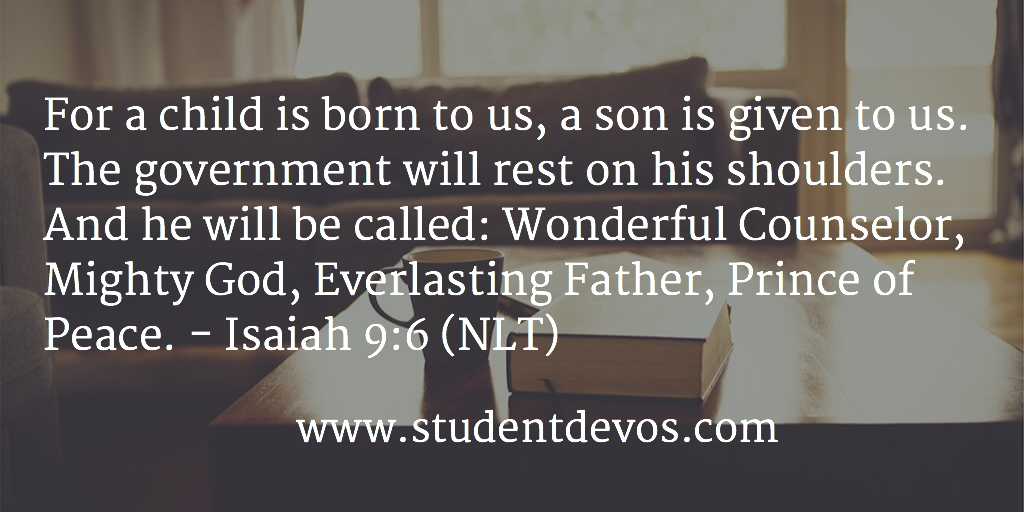 Christmas Daily Bible Verse and Devotion
