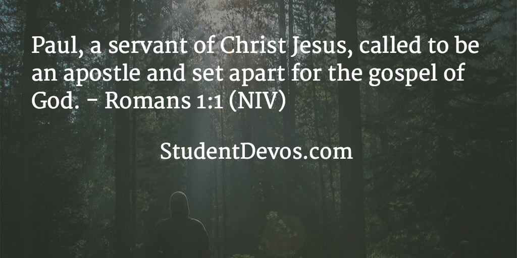 Daily devotional with Bible verse for on being a servant of Jesus Christ