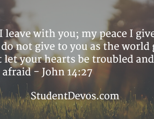 Daily Bible Verse and Devotion on Peace