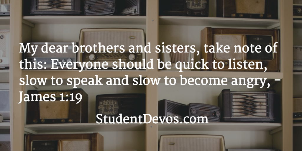Daily Devotion and Bible Verse - Anger Slow to Speak