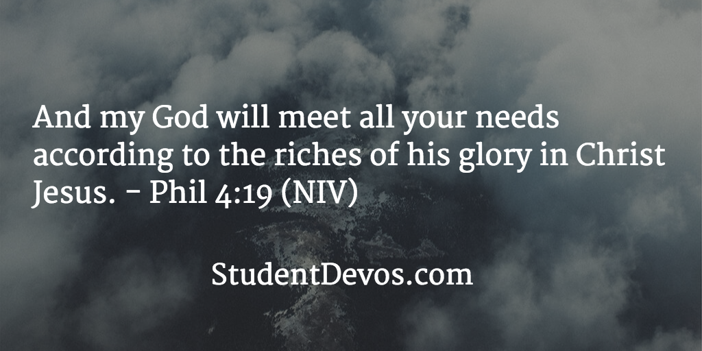 our god will meet all your needs