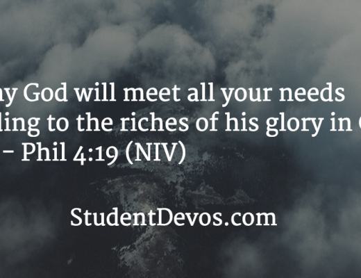 Daily Devotion and Bible Verse - God Supplies all our needs
