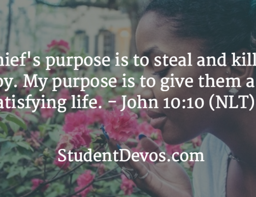 Daily Bible Verse and Devotion - John 10:10