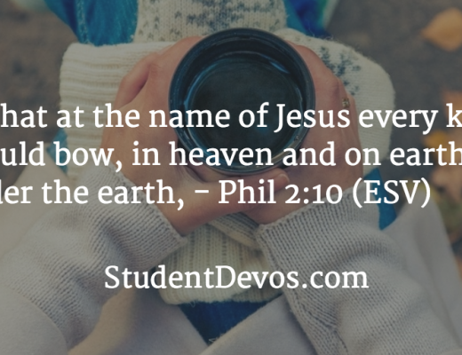 Daily Bible Verse and Devotion - Name of Jesus