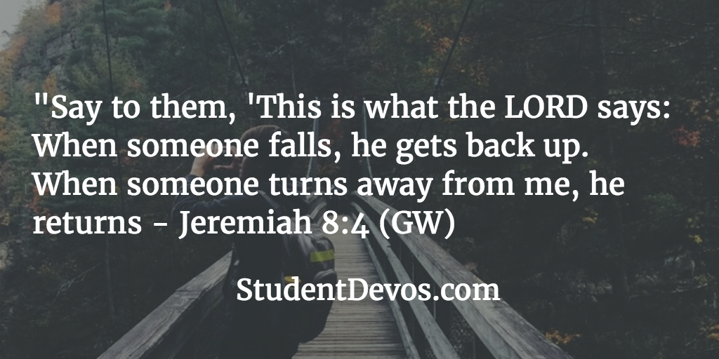 Teen Devotion and BIble Verse on Failure