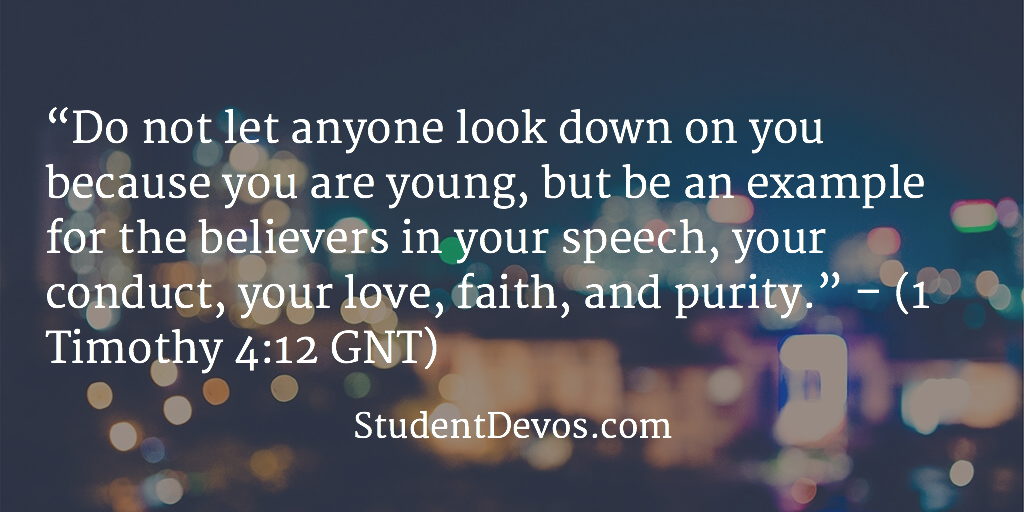 Daily Bible Verse and Devotion of rTeens on Leadership