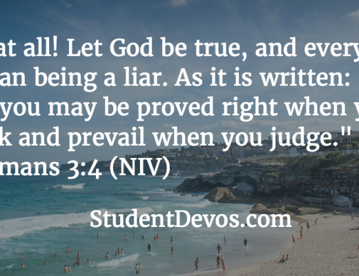 Daily Bible verse and devotional on God being true