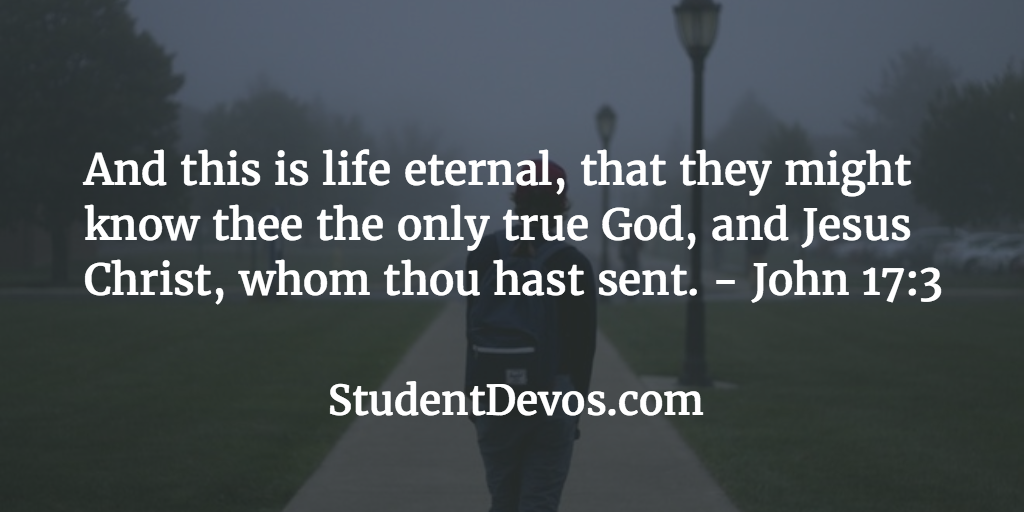 Daily Devotion Bible Verse Teens Eternal Life