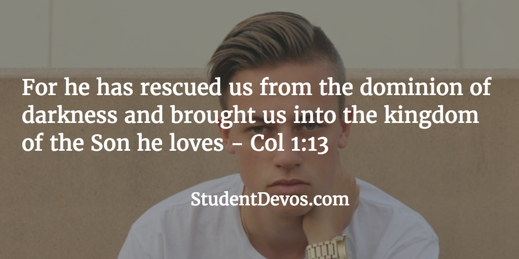 Daily Bible Verse and Devotion - Rescued from Sin
