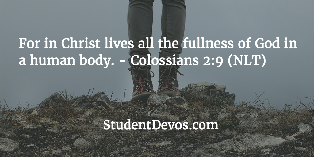 Daily devotional with Bible Verse Col 2:9