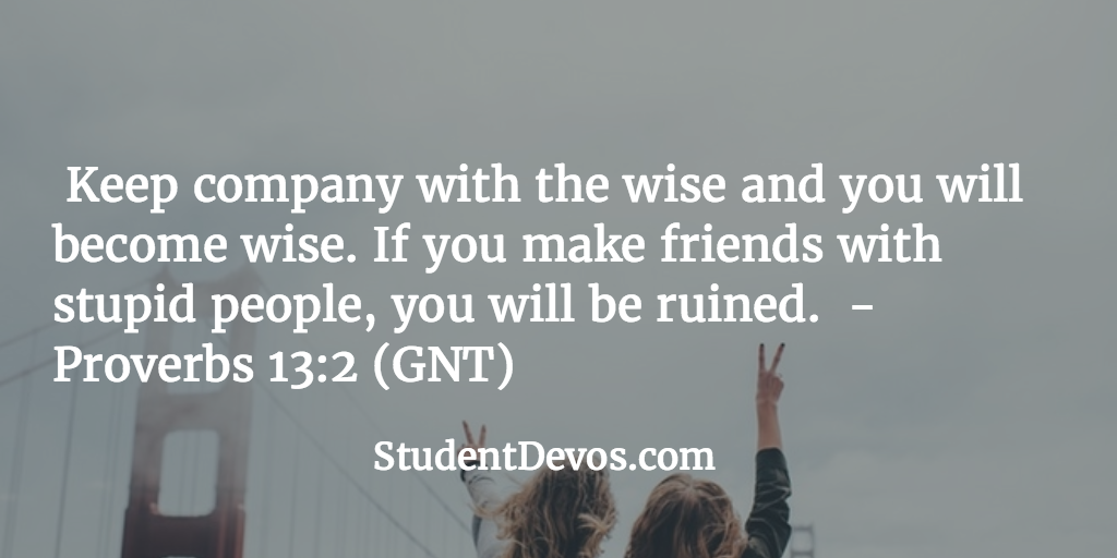Daily Bible Verse and Devotion on Friends