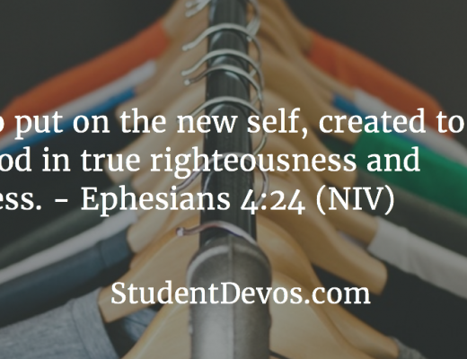 Daily Devotion and Bible Verse for Teens - Putting on the new man