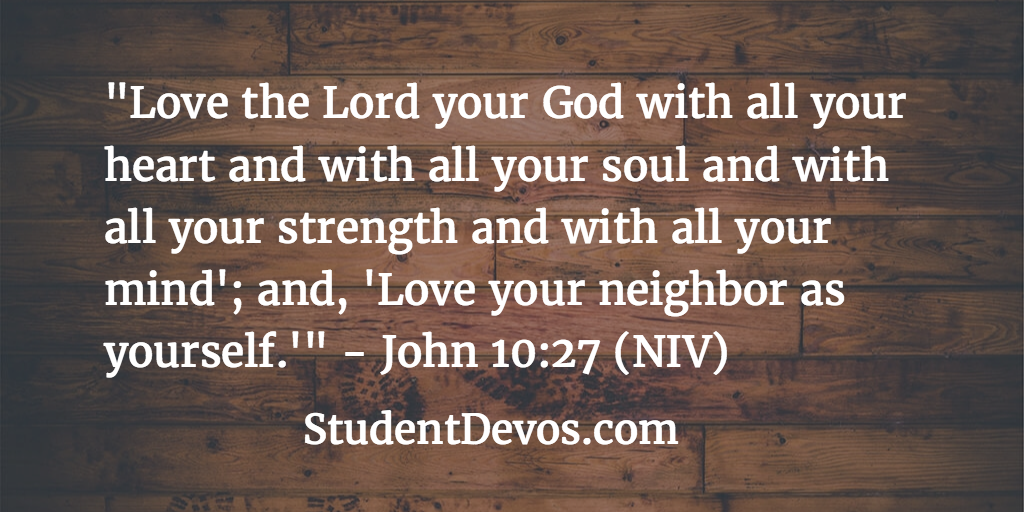 Daily devotion and Bible verse on John 10:27